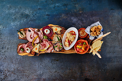 A sharing board at Jamie's Italian